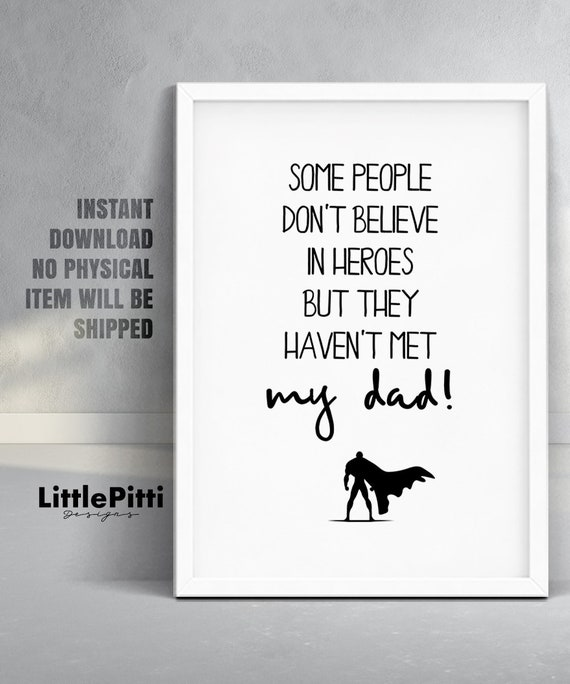 Dad Gift Idea Daddy Birthday Ideas My Hero