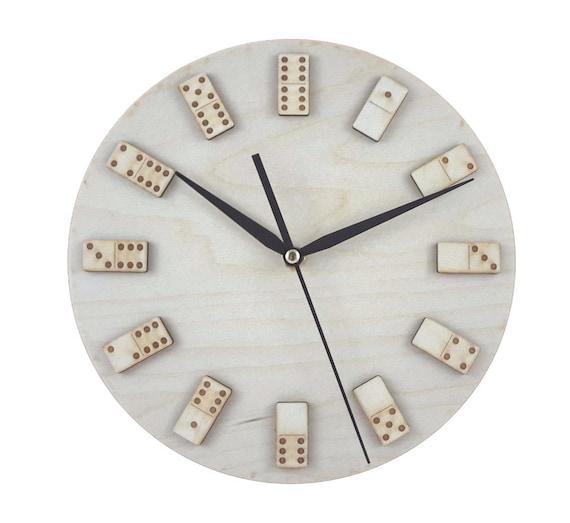 Domino-Wanduhr, Kinderzimmer Holz Uhr, Kinder, Baby Zimmer Wanduhr,  Kinderzimmer-Wand-Dekor, Laser geschnitten Uhr