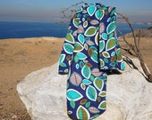 Generous, Oversized, Extra-Large 100 Cotton Blue and Green Nature Print Flannel Receiving Stroller Blanket 36 quot x 42 quot