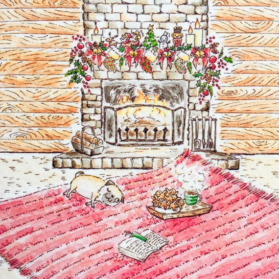 Warm and Cozy and Smells Good Postcard