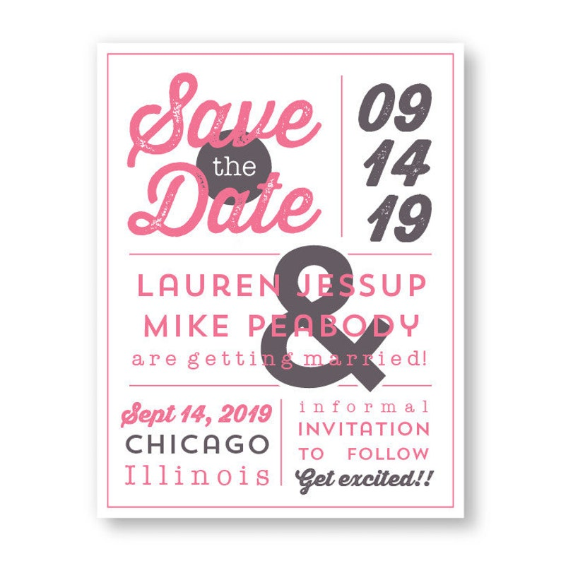 Poster Design Save the Date Announcement Card  AA8106