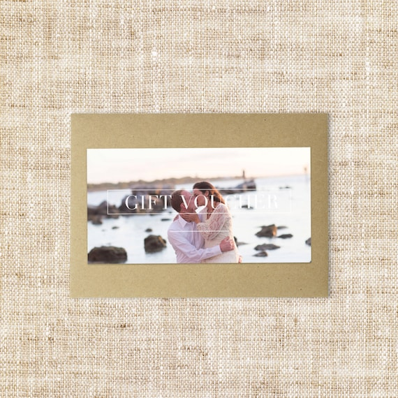 Modern Gift voucher design template-Double sided Photographer gift certificate-Small business gift card template