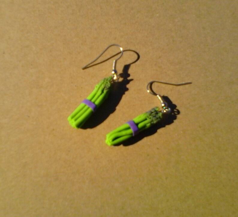 Asparagus bundle dangle earrings