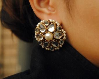 9d036b9b4b7bf Kundan earrings   Etsy