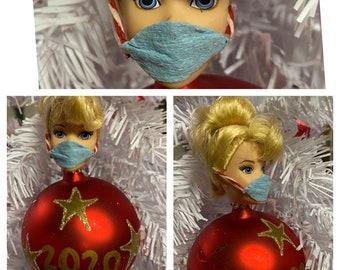 "Barbie Doll Head 2020 Ornaments ""Barbie Bulbs"" By Chez Gigi Studios-Christmas Ornaments-Fun Kitschy Christmas Gift for Doll Collectors!"