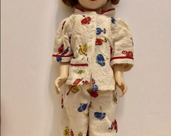 "1950's 17"" Hard plastic Arranbee Nancy Ann Bent Knee Doll, molded glasses, composition. Rare!"