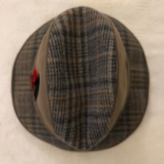 Sensational Vintage 1960S Bourse Cellini Fedora Mens Hat Suede And Wool Plaid 7 1 2 Very Stylish Excellent Condition Machost Co Dining Chair Design Ideas Machostcouk