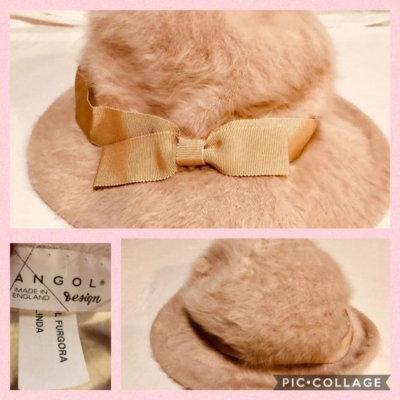965c861cff20f Vintage Kangol Pale Pink Champagne Furgora Bucket Hat with