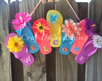 fdbd03dc5dda6 Flip-Flop Welcome Wreath