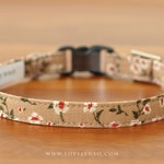 Blooming Dahlia Cat Collar – Brown