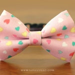 Valentine Cat Bow Tie Collar – Candy Hearts