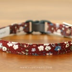 Amelie Cat Collar – Burgundy