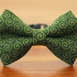 Christmas Cat Bow Tie Collar – Warm Wishes (Dark Green) / Holiday Cat Bow Tie Collar