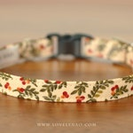 Christmas Cat Collar – Winter Berry / Holiday Cat Collar / Xmas Cat Collar