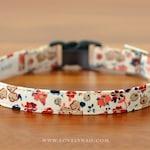 Amelie Cat Collar – Beige