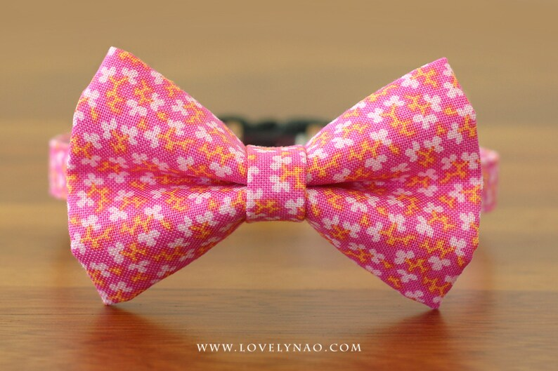 Spring Buds Cat Bow Tie Collar image 0