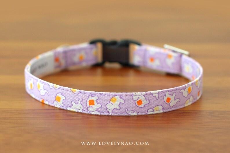 Baby Elephants Cat Collar  Lavender image 0