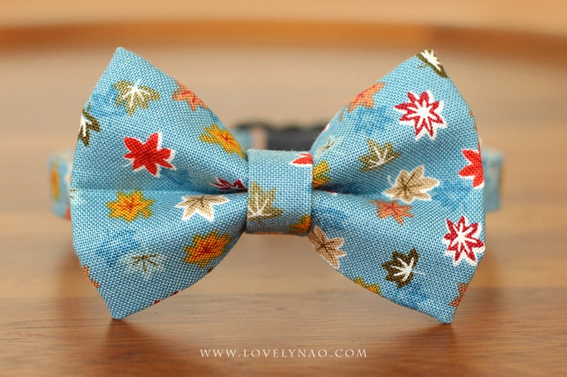Maple Story Cat Bow Tie Collar  Blue image 0