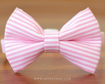 Mini Stripe Cat Bow Tie Collar
