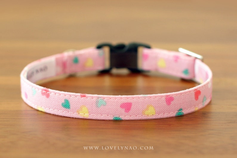 Valentine's Day Cat Collar  Candy Hearts image 0