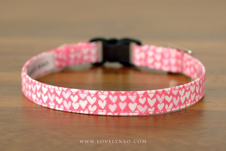 Valentine's Day Cat Collar  Valentine Hearts image 0