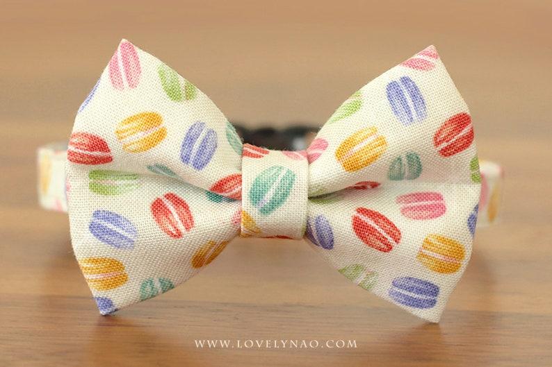 Valentine's Day Cat Bow Tie Collar  Macaron image 0