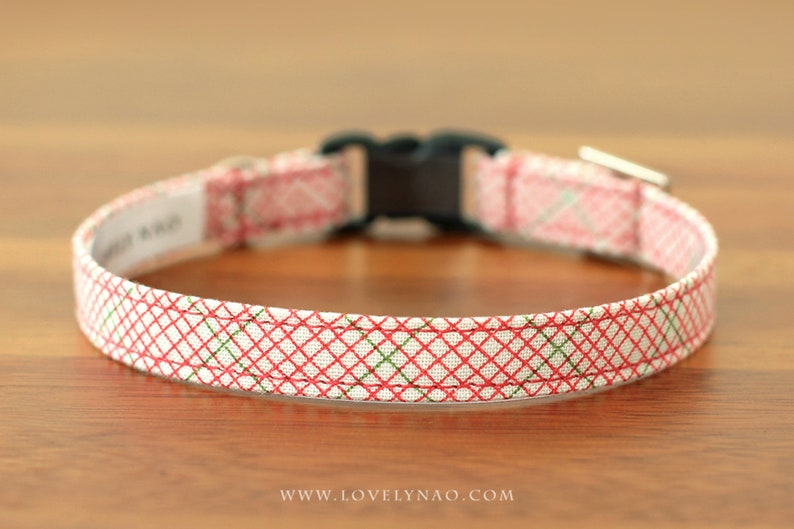 Christmas Cat Collar  Christmas Gift / Holiday Cat Collar / image 0