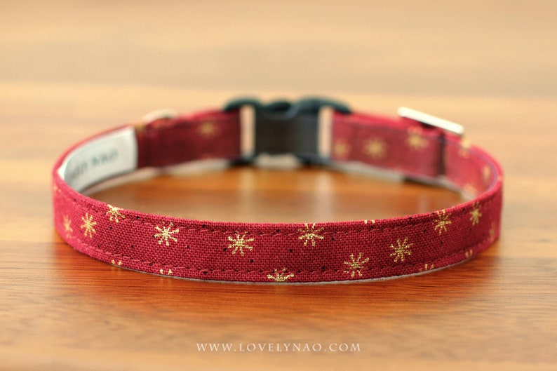 Christmas Cat Collar  Starlight / Holiday Cat Collar / Xmas image 0