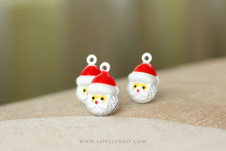Christmas Cat Bell  Santa Claus Santa Claus bell / Holiday image 0