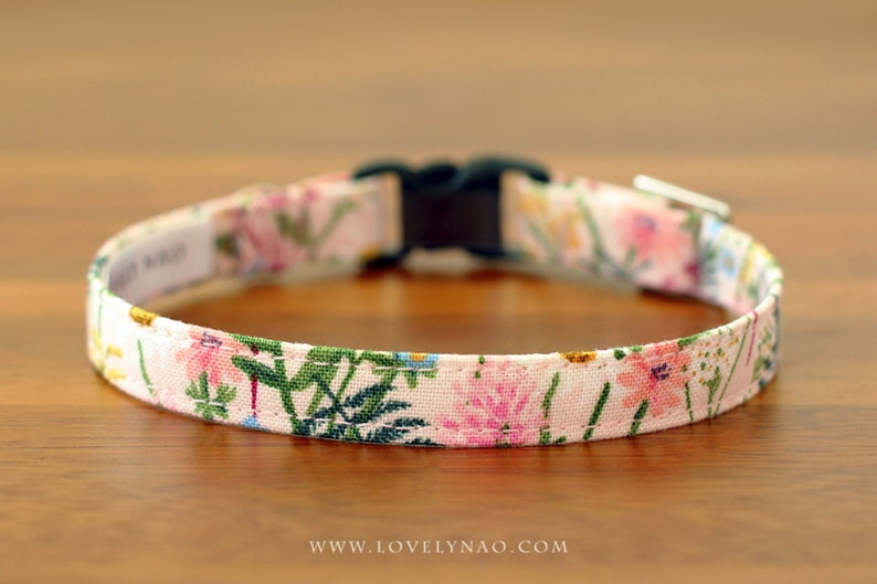 Wildflowers Cat Collar  Pink / Rifle Paper Co® Cat Collar image 0