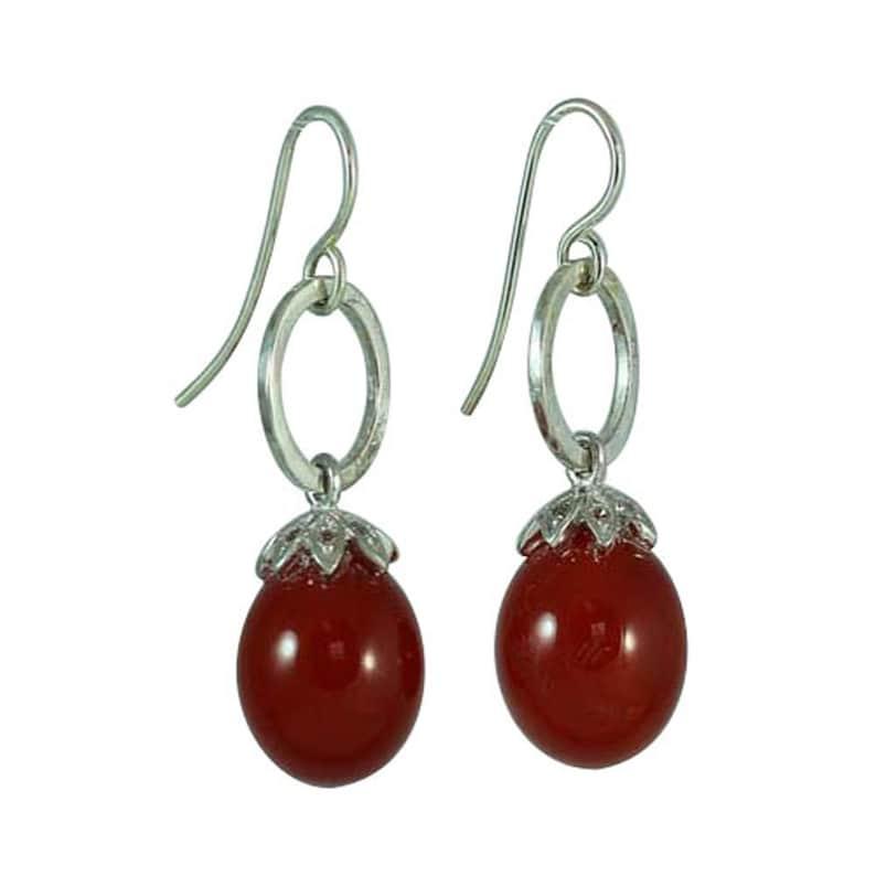 Carnelian Dop Earrings