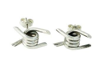 Barbed Wire Stud Earrings
