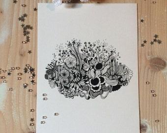 Card 1 graphic bouquet
