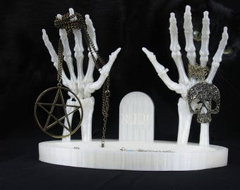 Skeleton Hands Jewellery Stand