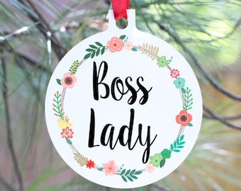 Boss Lady Ornament, Best Boss Gift, Manager Gift, Boss Lady Gift, Entrepreneur Gift, Girl Boss Ornament, Girlfriend Gift, Friend Gift