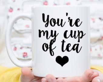 Tea mug, Tea lover gift, Tea cup, tea lover cup, cute tea mug, cute tea cup, mothers day gift tea, birthday gift tea, i love tea, tea gift