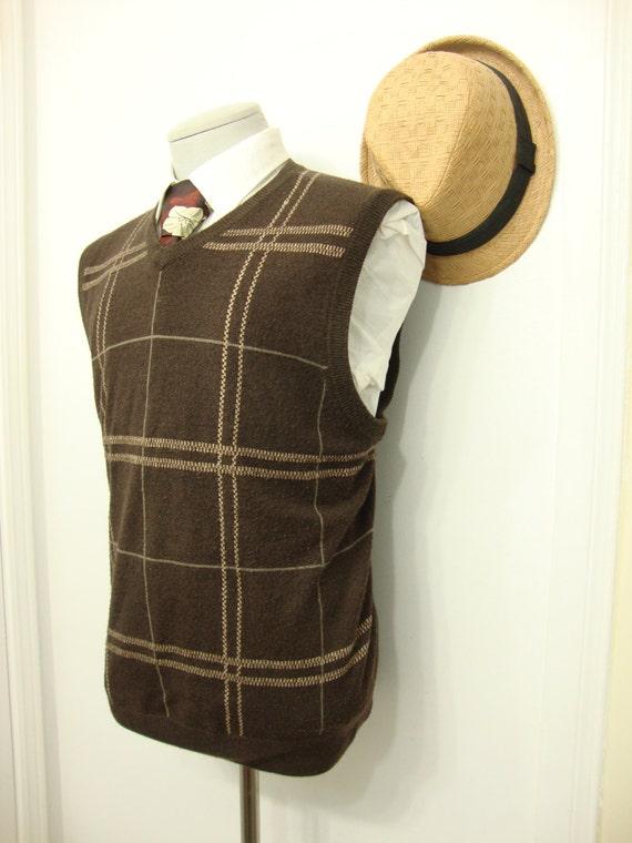 Vintage Ultra Sweater Wool Vest Waistcoat Mens Swe