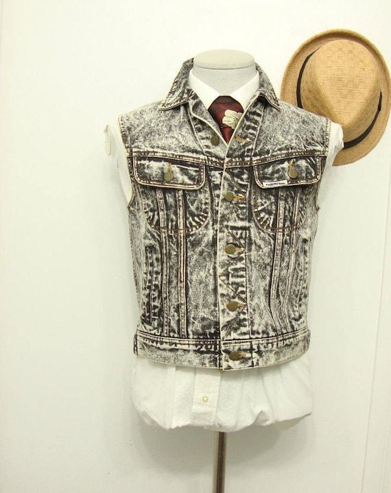 Vintage Denim Jean Waistcoat Vest Rare BANG Denim
