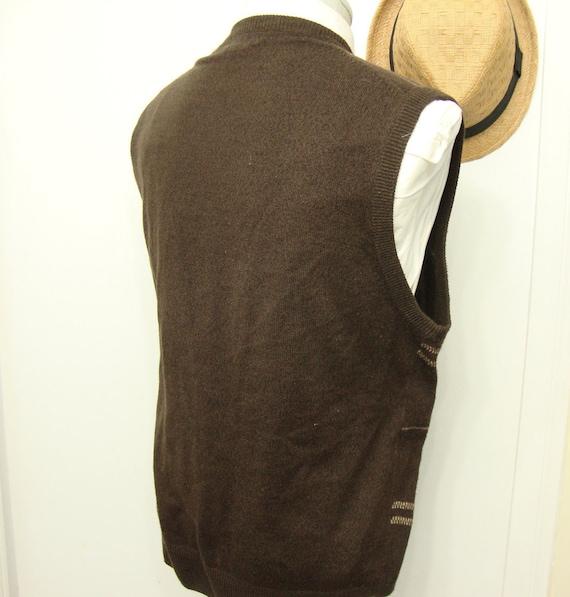 Vintage Ultra Sweater Wool Vest Waistcoat Mens Sw… - image 4