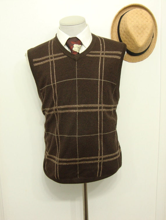 Vintage Ultra Sweater Wool Vest Waistcoat Mens Sw… - image 3