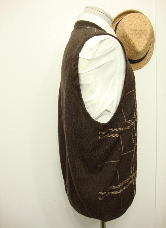 Vintage Ultra Sweater Wool Vest Waistcoat Mens Sw… - image 2