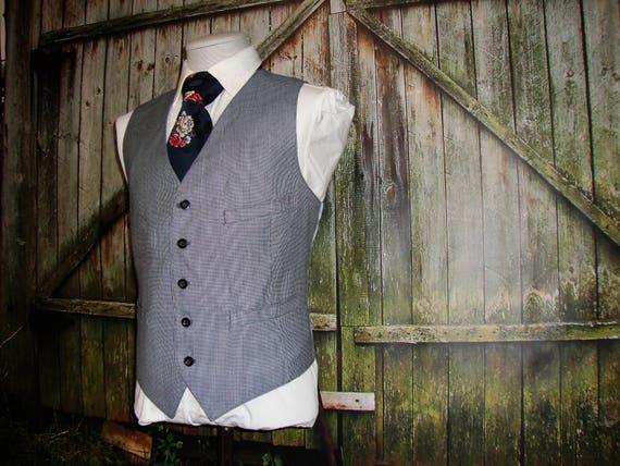 1960's Mens Suit Vest Vintage Men's Wool Vest Vint