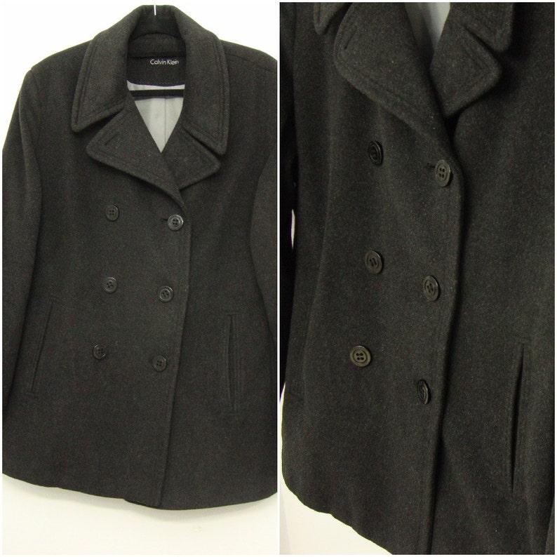 f416cf4b3fe87 VTG Calvin Klein Peacoat kurtka Miltary groch płaszcz Vintage | Etsy