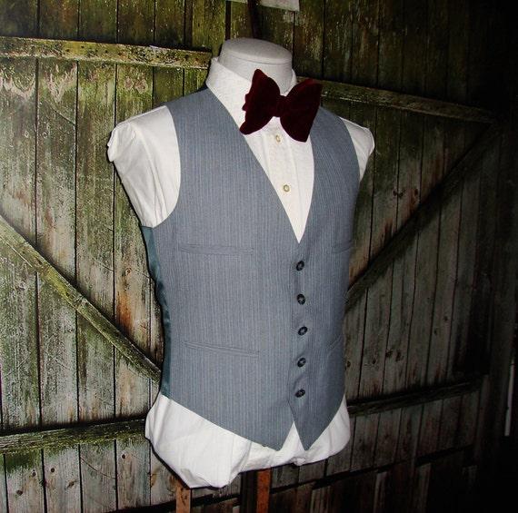 Vintage Men's Suit Vest 1960 Mens Waistcoat Size 3
