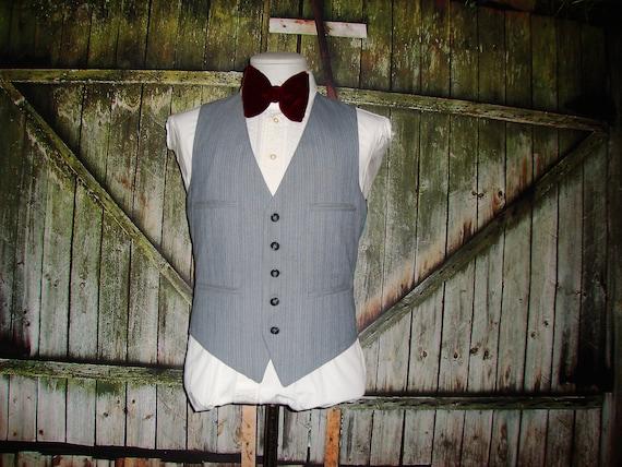 Vintage Men's Suit Vest 1960 Mens Waistcoat Size … - image 7