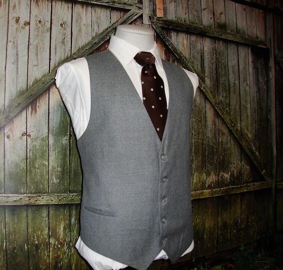 Vintage Mens Suit Vest 70s Men's Wool Vest Vintage