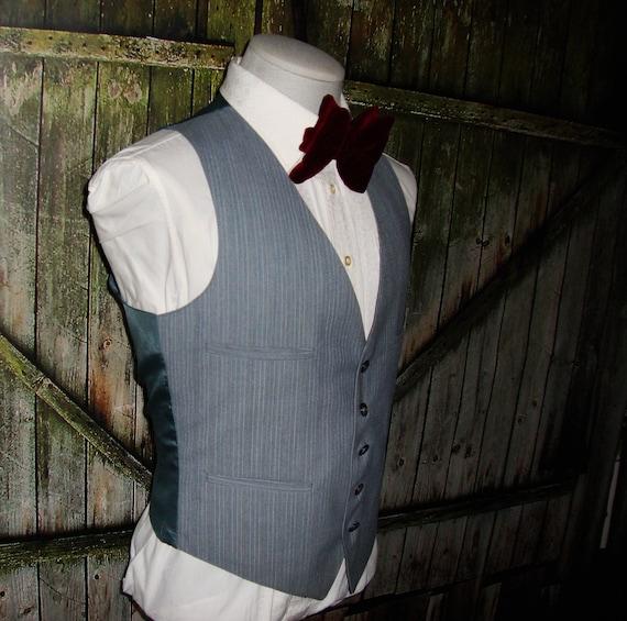 Vintage Men's Suit Vest 1960 Mens Waistcoat Size … - image 8