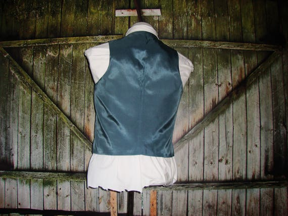 Vintage Men's Suit Vest 1960 Mens Waistcoat Size … - image 9