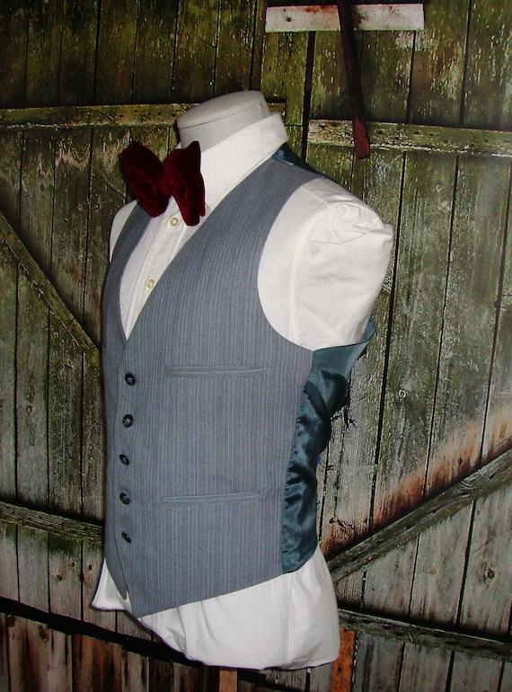 Vintage Men's Suit Vest 1960 Mens Waistcoat Size … - image 5