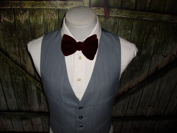 Vintage Men's Suit Vest 1960 Mens Waistcoat Size … - image 4